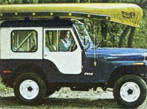Sportspal Canoe on Jeep using car top carrier blocks