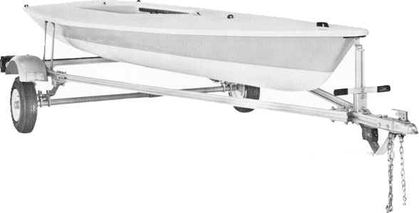 Trailex Model Ut-250L Trailer For Laser Sailboats