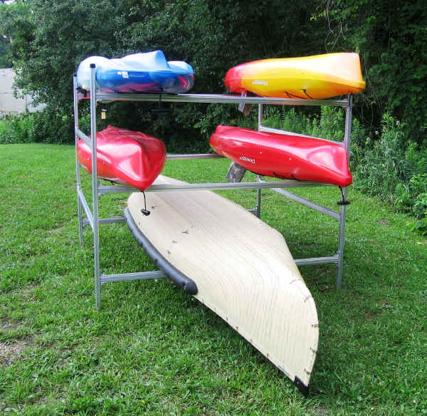 Trailex Box Rack with Canoes and Kayaks