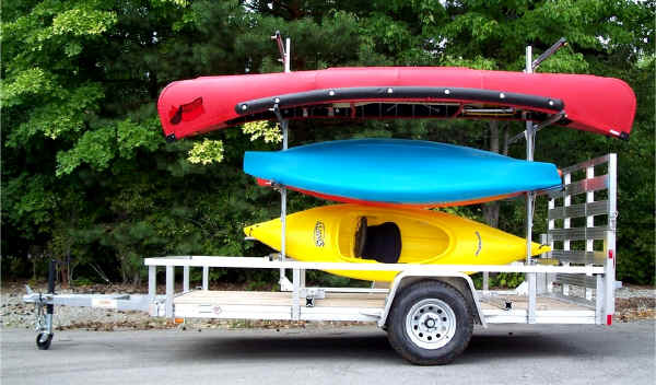 Trailex Trailer Kit to convert flatbed trailer to a canoe kayak trailerr
