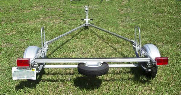 Trailex Laser Trailer with Spare Tire Mounted