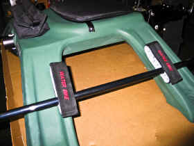 Flat Rod Carrier for WaterBike